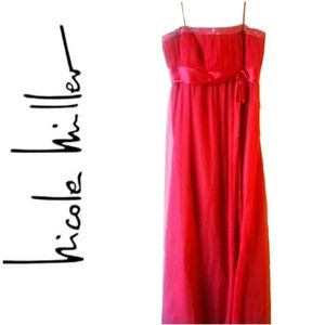 NICOLE BY NICOLE MILLER PROM DRESS -  RED